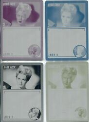 Star Trek Tos Archives And Inscriptions Set Of 4 Base Card Printing Plates 36
