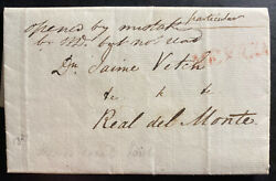 1827 Mexico City Mexico Letter Sheet Cover To Real Del Monte Hidalgo