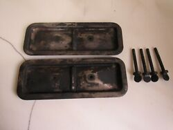 Vintage Pair Of 1950 Plymouth And Dodge Car Side Valve Covers And Bolts