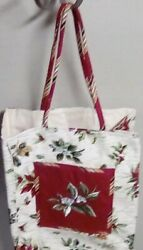 New 2006 Longaberger Holiday Christmas Gift Bag Lunch Tote Purse Holiday
