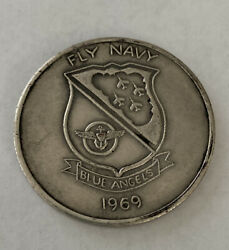 Blue Angels, Demo Team Fly Navy 1969 New Orleans Station Challenge Coin R4