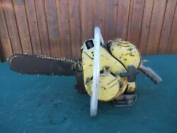 Vintage Clinton D21 Chainsaw Chain Saw With 14 Bar Old
