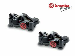 Pair Of Radial Brake Calipers Brembo Racing Cnc P4 32 Cafandegrave Racer .484 100mm