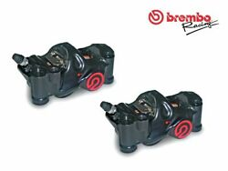 Pair Of Radial Brake Calipers Brembo Racing Cnc P4 32 Cafandegrave Racer .484 108mm