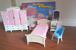Gloria Doll House Furniture Mega Bedroom And Wardrobe Playset For Dolls