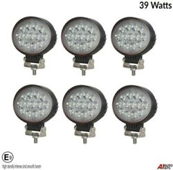 Six Powerful 39w Led 5.7and039and039 Oval Led Work Lights 12v 24v For Lorry Trailer Cab E9