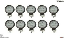 10 Hq 39w 12-24v Led 5.7'' Oval Led Work Lights Lamp Lorry Tractor Offroad 6000k