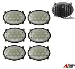 Six Front Hood 39w Led 5.5'' Oval Led Work Lights Lamp Lorry Tractor Offroad