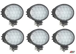 6x Powerful 65w Led 6.3and039and039 Oval Led Work Lights 12-24v Lamp For Lorry Trailer Cab