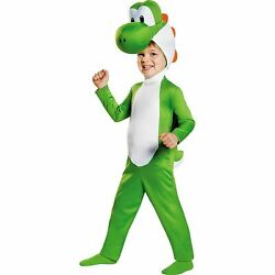 Super Mario Brothers Green Yoshi Costume Dinosaur for Toddler Boys Size 3 4T $34.39