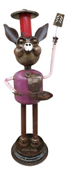 Assemblage Art Metal Sculpture Pig Caricature By Phillip Glashoff Life Size