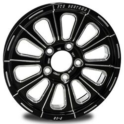 Ftd Customs F16 Black Anodized Drag Racing Wheels Chevy Bolt Pattern 5 On 4.750