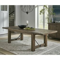 Bismack Extendable Pine Real Solid Wood Dining Table Wooden Dinner
