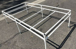 Eazy 4and039 X 8and039 Rolling Flood Table Stand Hydroponic Germination Trays Plants