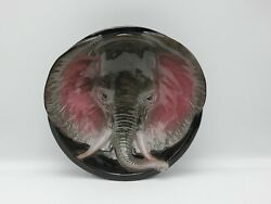 Vintage 3d Red Clay Elephant Bowl
