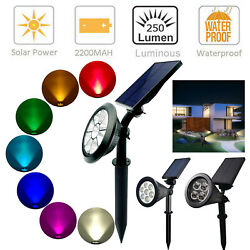 Solar Power Spot Light Outdoor 7 LED Garden Lawn Landscape Path Wall Lamp IP65
