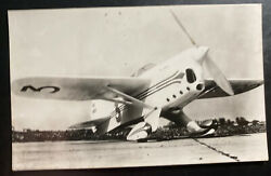 Mint Netherlands Real Picture Postcard Air Race Chester The Jeep Airplane