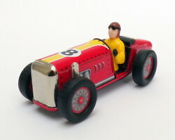 Schylling 10cm Long 20660 - Speedway Racer Wind Up Tin Car And Driver - Red