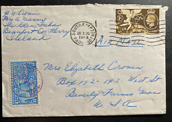 1948 Southampton Paquebot England Special Delivery Cover To Beverly Farms Usa