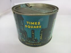Vintage Advertising Times Square Round Paper Lable Canister  Tin 169-