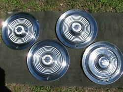 1954 1955 Oldsmobile 15 Wheel Covers Hubcaps Set Of 4 Good Used Olds
