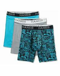 Hanes Ultimate Boxer Briefs Assorted 3 Pack Men#x27;s Comfort Flex Fit Cotton Modal