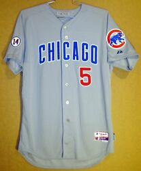 Chicago Cubs Welington Castillo 5 Gray Button-down Mlb Size 46 Majestic Jersey