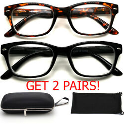 Nearsighted Myopia Shortsighted Distance Glasses for Womens Mens Minus Hard Case $15.99