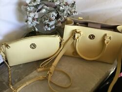 """""""sale"""" Dkny Butter Yellow Leather Bag Crossbody/wristlet Only"""