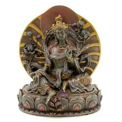 GREEN TARA STATUE 6quot; Seated Buddhist Icon Goddess HIGH QUALITY Bronze Resin NEW $39.95