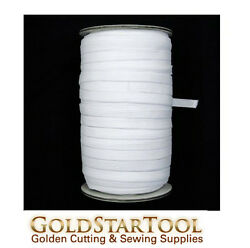 White Knitted Elastic Roll 1/2 Inch Width 144 Yards Perfect For Sewing And Craft