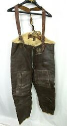 Wwii Usaaf 468th Bomb Group Named B-1 Leather Cold Weather Flight Suit Coveralls