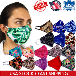Facemask Printed Face Mask Protection Mouth Mask Cover Reusable Washable  $8.99