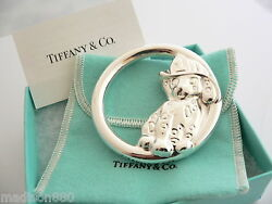 And Co Sterling Silver Fireman Dalmatian Dog Baby Rattle Cute Gift Pouch