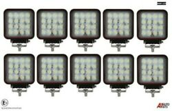 10 Professional Square 48w Led Work Lights Lamp Flood Beam Digger Tractor Digger