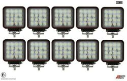10x Hq 48w Led 4.3'' Square Led Work Lights Lamp Lorry Tractor Offroad 3012 Lm