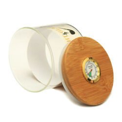 Pipe Tobacco Humidor Stash Jar With Humidifier And Hygrometer Glass Container Tin