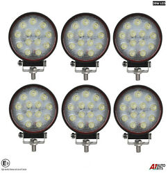 Six Powerful 39w Led 4.7and039and039 Round Led Work Lights 12v 24v Lamps For Lorry Trailer