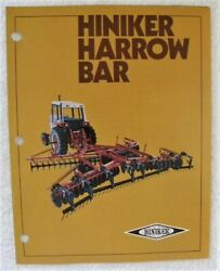Hiniker Harrow Bar For Disccultivatorchisel Plow All Color Dealer Advertising