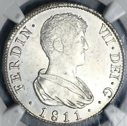 1811-v Ngc Ms 64 Spain 4 Reales Mint State Silver Coin 20052603cv