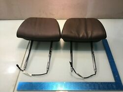 08-13 Bmw E70 X5 Front Left And Right Seats Headrests Pair E