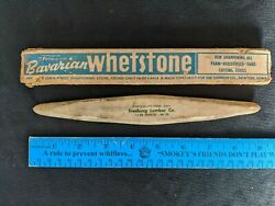 Vintage Bavarian Whetstone Freeburg Illinois Lumber Vernon Co Newton Iowa