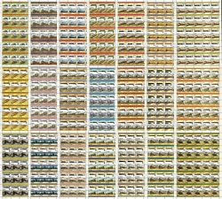 320 X Railway Train Stamp Sheets Leaders Of The World 14820 Stamps Wholesale