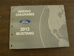 Oem Ford 2013 Mustang Shop Manual Wiring Diagram Book Nos Gt Shelby Gt500