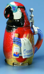 Corona Butler Parrot Limited Edition Collectible Beer Stein 6720