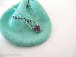 And Co Silver Sparklers Amethyst Gemstone Pendant Necklace Charm Gift Love