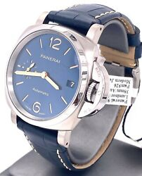Panerai LUMINOR DUE Blue Dial Titanium 38mm Watch Pam 926 - PAM00926 -Brand New
