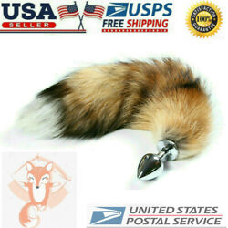 Funny Beginner Fox Tail Rabbit Faux Tail Plug Butt Stopper Anal Cosplay Adult
