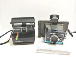 Lot Of 2 Vtg Polaroid Camera's, The Land Camera Colorpack Ii And The Onestep 600