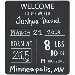 Baby Announcement Chalkboard Sign. Andldquowele To The Worldandrdquo Photo Prop And